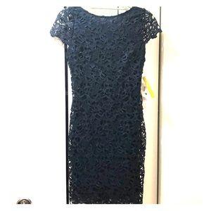 NWT ALICE&OLIVIA Navy lace dress
